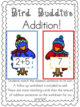 Addition Practice Math Center