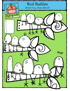 "Bird Buddies ""If Not You, Then Who?"" {P4 Clips Trioriginals Digital Clip Art}"