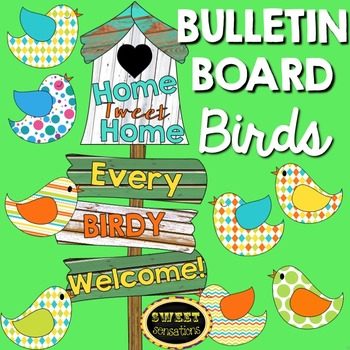 Bird Bulletin Board Set