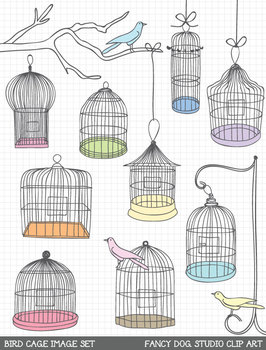 Clipart - Bird Cages