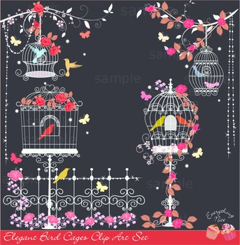 Bird Cages Clipart Set
