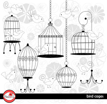Bird Cages Clipart by Poppydreamz
