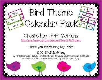 Bird Calendar Pack