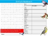 Bird Calls Onomatopoeia Wordsearch Puzzle Sheet Keywords Homework English