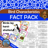 BIRDS CHARACTERISTICS Fact Pack Informational Text Reading Writing Posters