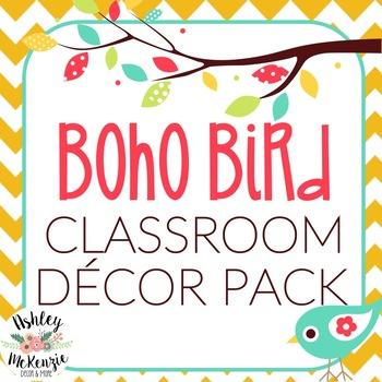 Boho Bird Classroom Decor Mega Pack By Ashley Mckenzie Tpt