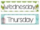 *Bird & Chevron* Days of the Week (Yesterday was, today is