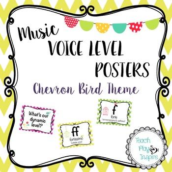 Bird Chevron Music Dynamics Levels