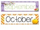 *Bird & Chevron Themed* Months of the Year Printable