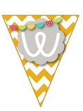 Bird & Chevron Welcome Banner & Student Name Cards {Editable!}