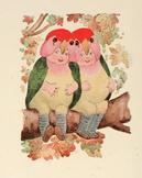 Bird Children - 85 public domain illustrations & poems to
