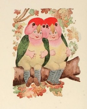 Bird Children - 85 public domain illustrations & poems to