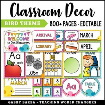 Bird Classroom Decor
