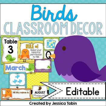 Bird Themed Classroom Decor