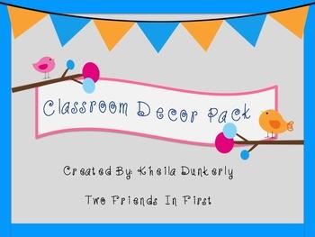 Bird Classroom Decor Pack