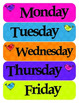 Bird Classroom Theme - Door,Days of the week, Weather, Loc