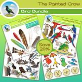 Bird Clip Art Bundle - 115 Piece Set - Color & Blackline