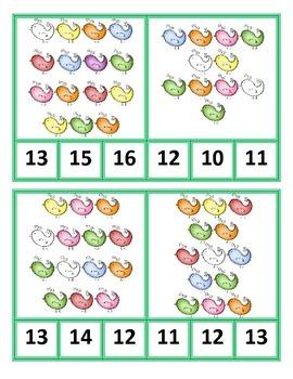 Bird Clip Cards 0-20