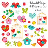 Clipart: Bird and Butterfly Clip Art