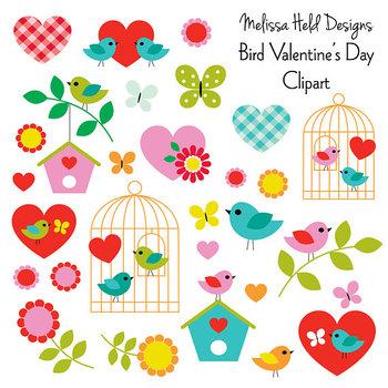 Bird Valentine's Day Clipart