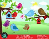 Bird Clipart, Bird House, Butterfly, Lady Bug {Upzaz Digit