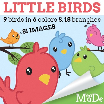 Bird Clipart - Tree Branches Too!