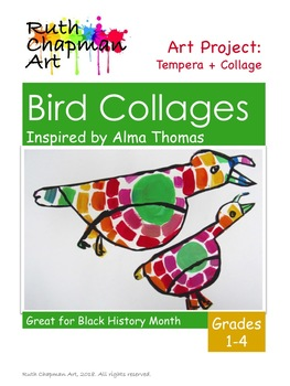 Bird Collages Inspired by Alma Thomas, Art Lesson for Black History Month