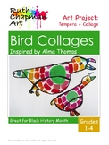 Bird Collages Inspired by Alma Thomas, Art Lesson for Blac