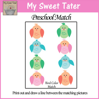 Bird Color Match Sheet