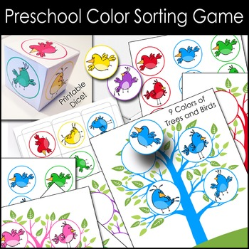 Bird Color Sorting Game -Preschool