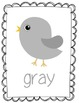 Bird Color Word Posters