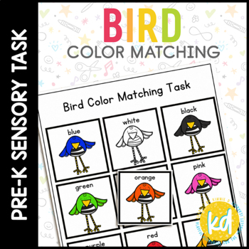 Bird Colors Folder Game for Early Childhood Special Education