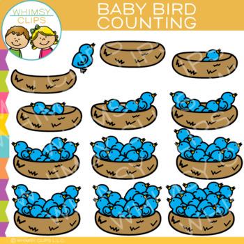 Bird Counting Clip Art
