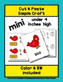 Bird - Cut & Paste Craft - Mini Craftivity for Pre-K & Kin