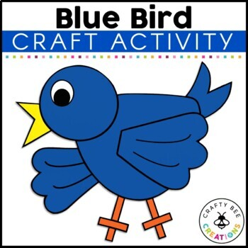 Blue Bird Cut and Paste