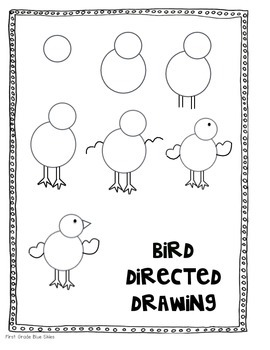 Bird Directed Drawing for Spring