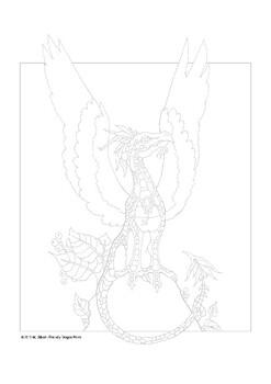 Bird Dragon Coloring Page
