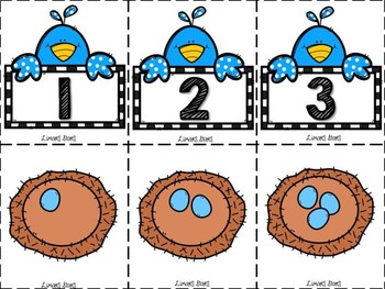 Bird & Eggs Number Matching 1-10