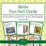 Birds Unit Activity - Fun Fact Cards for Games, Bulletin Board