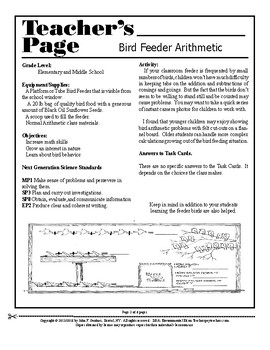 Bird Feeder Arithmetic