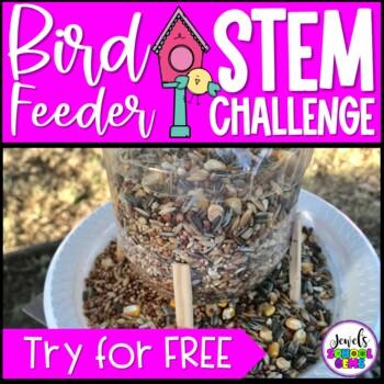 Distance Learning STEM (Bird Feeder Earth Day STEM Challenge FREE)