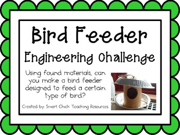 Bird Feeders: Engineering Challenge Project ~ Great STEM A