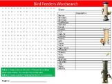 Bird Feeders Wordsearch Puzzle Sheet Biology Birds Pets Creatures