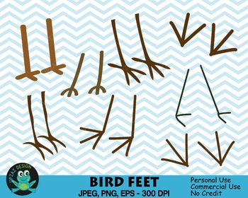 Bird Feet Elements (Upzaz Digital Clipart)
