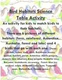 Bird Habitats Science Table Activity