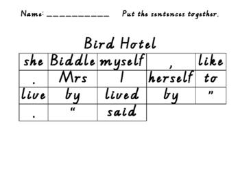 Bird Hotel Put the Sentence Together