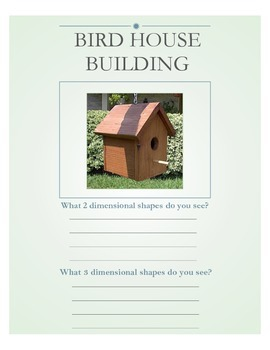 Bird House Building Geometry Project
