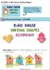 Bird House Sorting Shapes Activity Preschool and Kindergarten