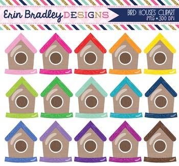 Bird Houses Clipart