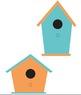 Bird Houses- Multi colored